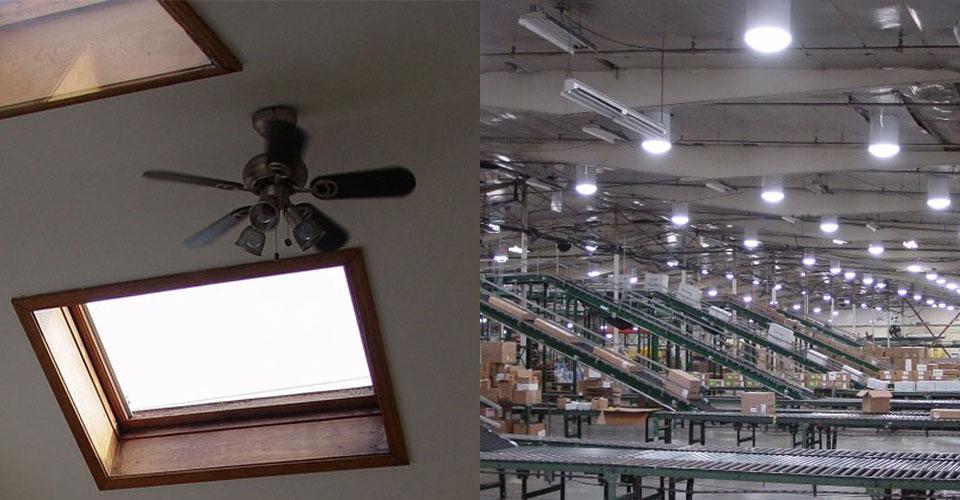 Skylights v/s Solar tubes
